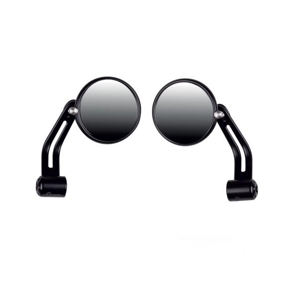 Lenkerendspiegel schwarz, Aluminium für Moto Guzzi V7 I+II, V7 III