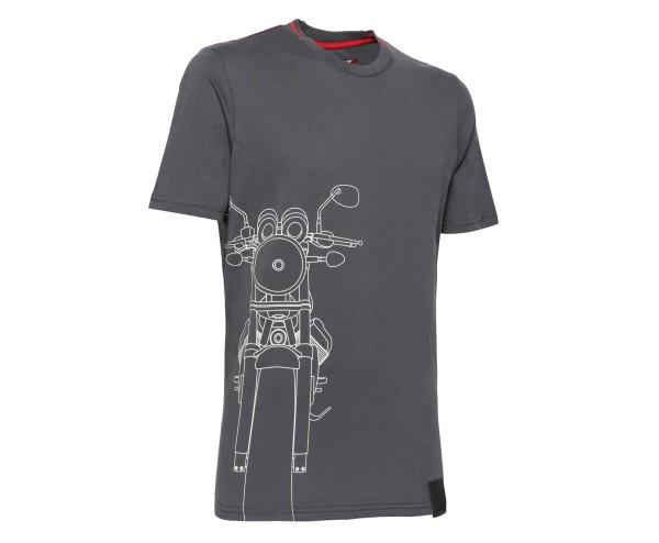 Moto Guzzi Herren T-Shirt Baumwolle grau