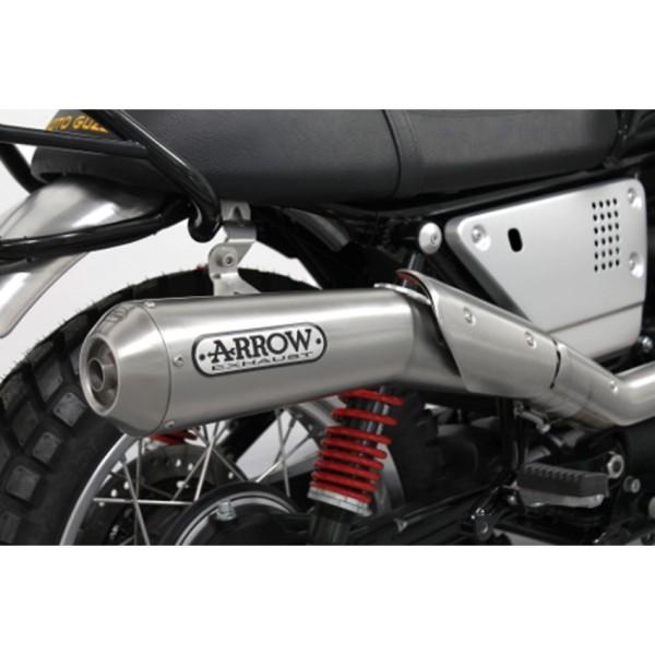 Original Moto guzzi V7 III 2018- Auspuffanlage Arrow, Euro 4, 2 in 1