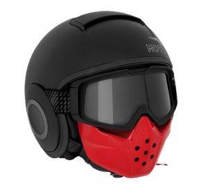 Moto Guzzi Jethelm, Mask, schwarz, matt