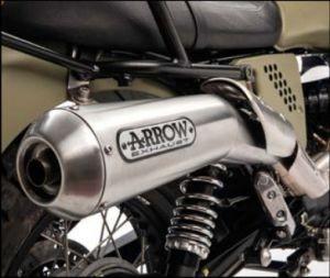 Original Auspuffanlage Arrow (ABS Version), Slip On, Euro 3 für Moto Guzzi V7 II