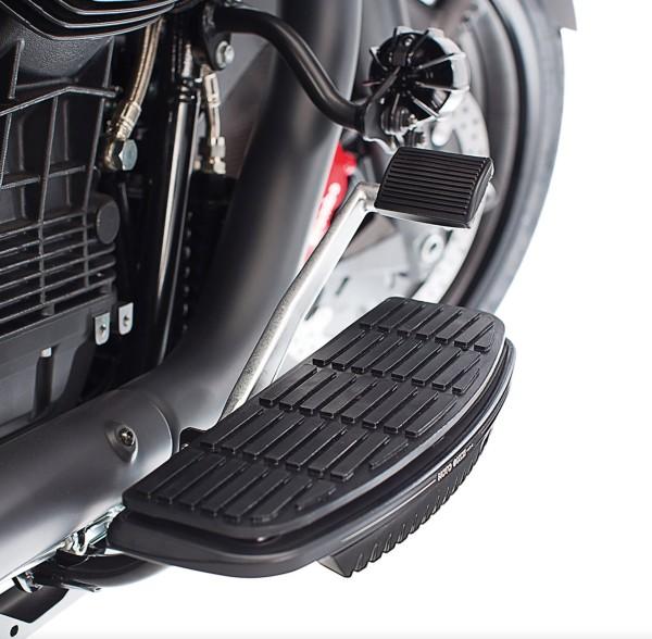 Trittbrettverkleidung, Aluminium, schwarz für Moto Guzzi MGX 21/ Audace