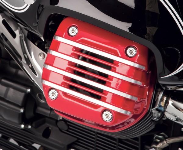 Original Abdeckung für Zylinderkopf (Paar), rot für Moto Guzzi Eldorado