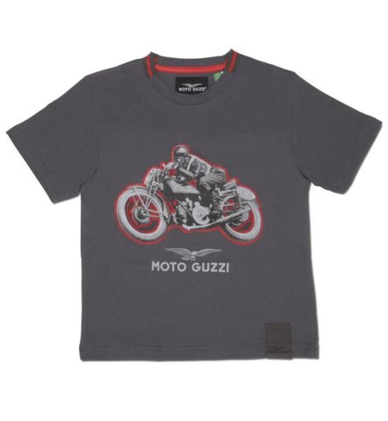Moto Guzzi Kinder T-Shirt Garage Baumwolle grau