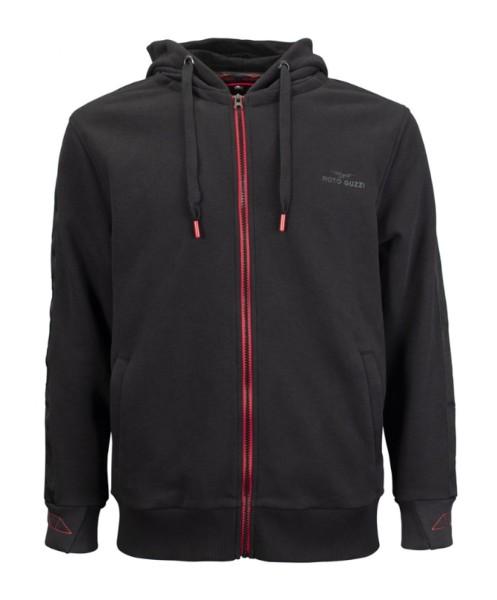 Moto Guzzi Sweat Shirt Jacke V85 TT Baumwolle schwarz