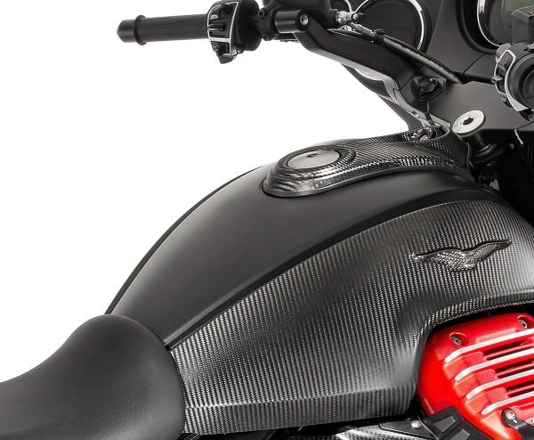 Carbon Tankabdeckung für Moto Guzzi MGX 21