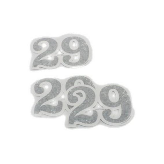 Original Dekorsatz, 29, Klebezahlen, Aluminium für Moto Guzzi V7 I+II