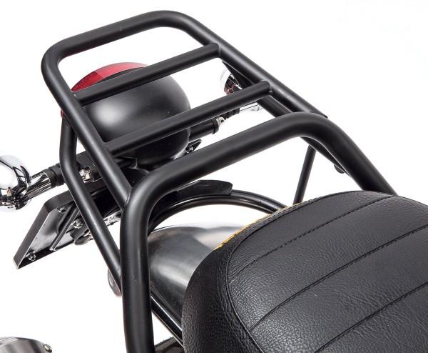 Gepäckträger, hinten, schwarz, starr für Moto Guzzi V7 I+II, V7 III