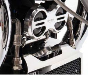 Original Hupenabdeckung, Aluminium, titan für Moto Guzzi Eldorado/ California