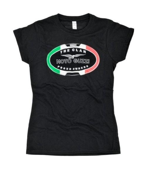 Moto Guzzi Damen T-Shirt THE CLAN schwarz
