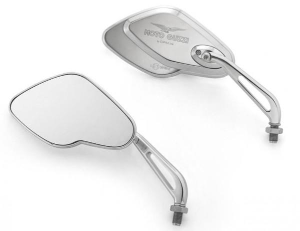 Spiegel, Satz, Aluminium, chrom für Moto Guzzi California