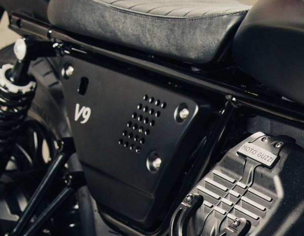 Alu-Seitenabdeckung Set schwarz Moto Guzzi V7 III / V9 Bobber