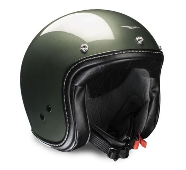 Moto Guzzi Jethelm Engine moss grün