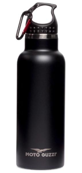 Moto Guzzi Flasche Aluminium schwarz