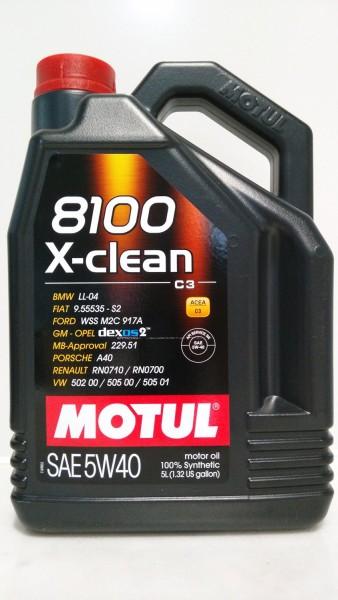 Motul 8100 X-Clean 5W40 Motoröl - 5 Liter