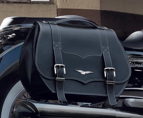Original Packtaschen, Leder, schwarz, 23 l für Moto Guzzi Eldorado