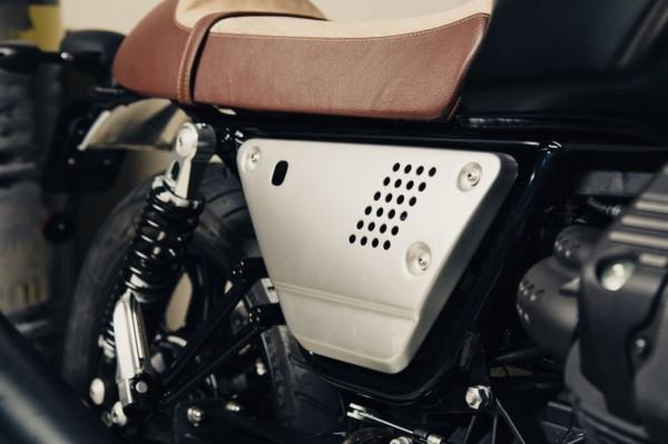 Alu-Seitenabdeckung Set silber Moto Guzzi V7 III / V9 Bobber / Roamer